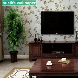 Europe and the United States nostalgic printed wallpaper bedroom living room study wall stereo waterproof non-woven wallpaper
