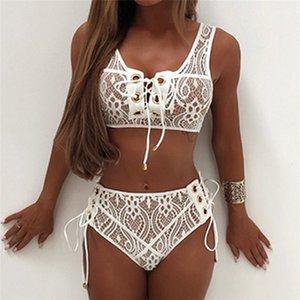 Women Party Lace Bandage Bikini Set Top Bra+Pants Underwear Set Free Size H1TY0 Y200708