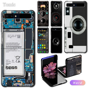 "Camera Battery Calculator Hard Case Samsung Z Flip 6.7"" Black Shell Bumper for Galaxy ZFlip PC Mobile Phone Cover"