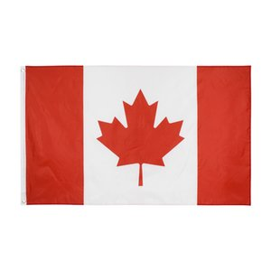 Wholesale direct factory high quality 90*150cm 3*5fts ready to ship 100% polyester Canadian Canada Flag banner flag