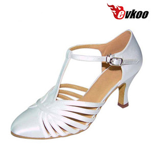 Evkoodance Size US 4-12 Six Color For Choice Dancing Shoes For Women 7cm Heel Latin Dance Shoes Woman Can Custom Evkoo-026 201017