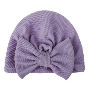 Newborn Hat Cute Bow Baby Turban Solid Color Infant Caps Bowknot Elastic Headband Cute Headwrap Polyester Head Accessories sqcwhs hjfeeling