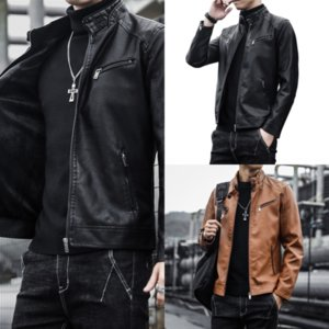 5PIL Men Vintage Leather Short Style PU Casual Jacket With Pocket Bag Male leather designer coat Streetwear Coat Thick Leather Prd