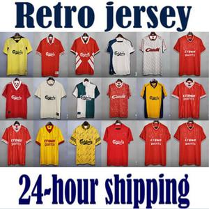 Liverpool RUSH NUOVO Gerrard 1985 1986 RETRO maglia di calcio 2005 2006 Crouch Morientes 85 86 04 05 camicia di calcio 1989 1991 Classic Vintage