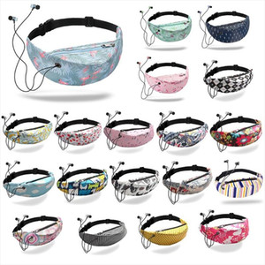 Sell at a loss! Waterproof 3D Colorful Print Women Waist Fanny Pack Belt Bag Headset Chest Pouch Travel Sport Hip