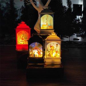 Noel Fener Taşınabilir Mini LED Işık Dekorasyon GWA1940 Işık 4 Kalıpları Asma Lamba Cadılar Bayramı Noel Açık Ağacı Boyalı
