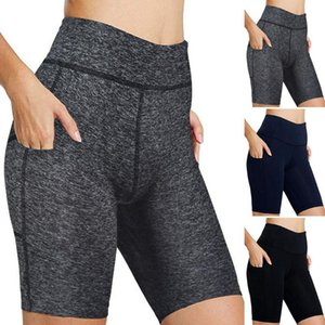 Women Yoga Shorts Ladies's High waist raised hip elastic running fitness yoga shorts Sexy Skinny Casual 5.25