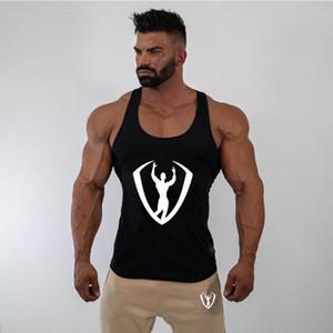 GYMPXINRAN Sommer Fitness Männer Tank Top Mens Bodybuilding Stringers Tank Tops Singlet-Marken-Kleidung ärmelloses Shirt 0pAK #