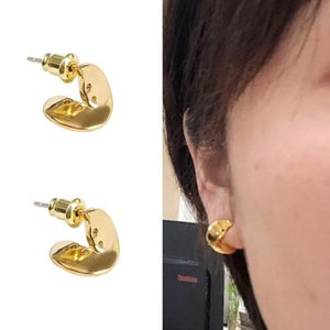 LONDANY New European and American niche original design neutral button love letter earrings personality couple earrings