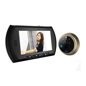 4.3 Smart Digital Door Viewer Camera DoorBell Video Recorder Peephole Viewers Night Vision PIR Motion No Disturb Door Eyes