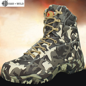 Men Military Army Boot Spring High Quality Waterproof Canvas Camouflage Tactical Combat Desert Ankle Boots Mens Shoes 201019