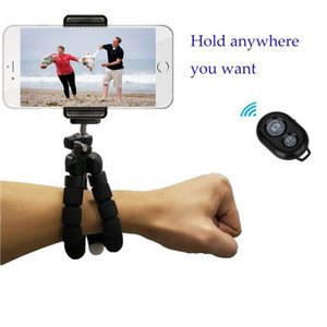 Flexible Adjustable Tripod Bluetooth Camera Remote for 7 Plus 6S Hero Akaso EK7000 Action Camera Octopus Tripod