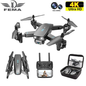 FEMA S173 Mini Drone With Camera 4K HD Professional Wide Angle Selfie WIFI FPV VS RC Quadcopter S167 Dron GPS1
