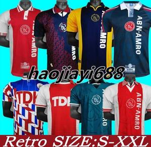 04 05 Ajax Red Retro Edition Soccer jerseys 94 95 Ajax LITMANEN KLUIVERT DE BOER SEEDORF DAVIDS 1990 97 98 Football shirt uniform 00 01Ajax