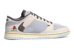 2020 Release Otantik PS5 Dunk Travis Scott PlayStation SB 5 Erkekler Açık Ayakkabı Düşük Kaykay Spor Spor ayakkabılar Orijinal kutusu