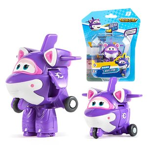 New Season Mini Super Wings Deformation Mini Airplane ABS Robot toy Action Figures Super Wing Krystal Bucky Transformation toy