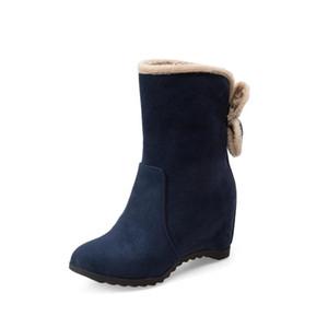 Новый дизайн женские ботинки круглый носок высота рост красивые бабочки черное черное синее вино красные сапоги обувь женщинам нам размер 3,5-10,5