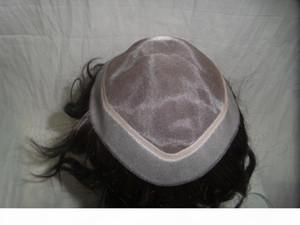 Часть PU волос Европейского волос полных парики шнурка Цвет черный прямые волосы, 21см * 16см MONO PU WIGS Can дизайн Пользовательский хорошее качество переплетение парики