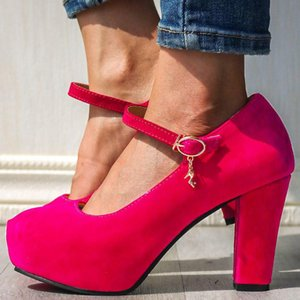 GIGIFOX High Heels 2020 Wholesale Elegant Large Size 43 Platform Shoes Women's Pumps