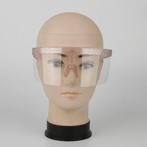 Oversized Exaggerated HD LEN Shiny Visor Wrap Large Mirror UV400 Sun Glasses Half Face Shield Guard Protector Goggle Girl