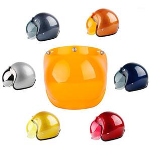 LDMET Motocicleta Casco Visor Bubble Shield Retro Harleyr Helmet Máscara Burbuja Visor Vintage Mirror1