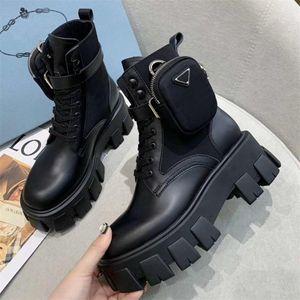 2021 المرأة ريال مارتن الأحذية العسكرية مستوحاة من القتالية الأحذية النايلون الحقيبة المرفقة على الكاحل مع حزام الكاحل الأحذية