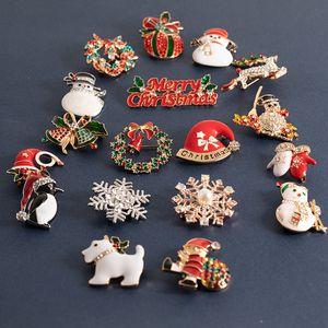 Spille di Natale, spille, di Babbo Natale bello cappello, pupazzo di neve, guanti, campane, calze, pinguini, caramelle, spille con lo smoking, doni di donne