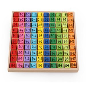 Children Wooden Times Table 99 Multiplication Table Math Toy 10 *10 Figure Blocks Learn Educational Gifts Arithmetic Teaching Aids For Kids