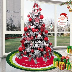 Removable DIY Christmas Tree Skirt,Large 4 Layers Non Woven Holiday Christmas Tree Decoration Skirts New Arrival