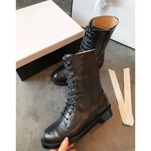2020 Woman High-Quality Boots Real Leather Boots Ankle Boots lace-up Casual shoes Winter Fall fashion shoes migu03