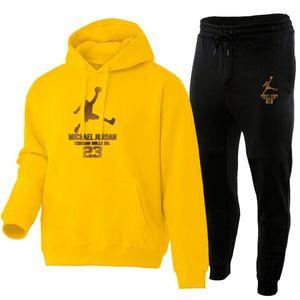 Yeni Sonbahar erkek Setleri 2-Adet Hoodies + Pantolon Harajuku Spor Suits Casual Erkekler / Kadın Tişörtü Eşofman Marka Spor Giyim