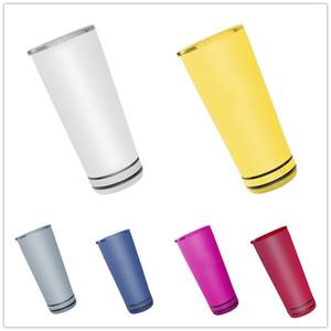 8 цветов 18 унций Bluetooth динамик вина тумблер музыкальный чашка умная нержавеющая сталь водонепроницаемая беспроводная бутылка открытая морская доставка GWE3935
