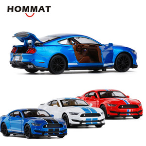 HOMMAT 1:32 Scale Ford Mustang Shelby GT350 Toy Car Model Diecasts & Toy Vehicles Alloy Metal Model Car Gifts Toys For Children X0102
