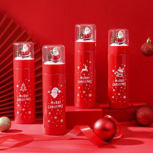 Regalos de Navidad de Santa Claus termo Copa botellas de 380 ml de agua Elk creativo de la historieta del regalo de Navidad Taza termo XD24100
