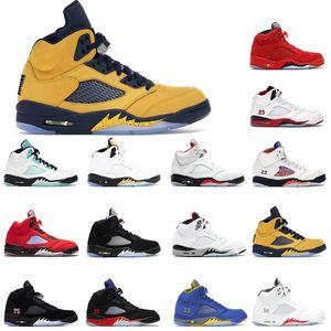 Basketball Shoes 5s 5 Inspire Men 2020 Fire Red Top 3 Alternate Bel Black Metallic Blue Suede Red suede Cemen Sneakers 7-13