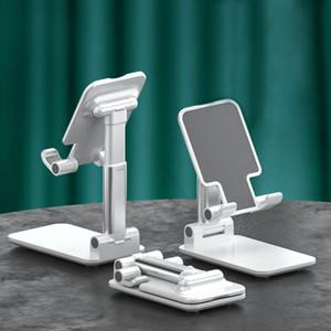Katlanır Masa Telefonu Standı Tutucu Cep Telefonu Bağlar Evrensel Taşınabilir Katlanabilir Uzatılmış Metal Masaüstü Tablet Masa Standı Tutucular