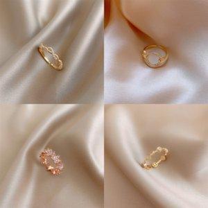 GL6QC RING DIY Blank Base Zircon One Coney Японские и корейские осенные жемчужины вырезать серебряные алмазные кольца держатель настроек ювелирных изделий