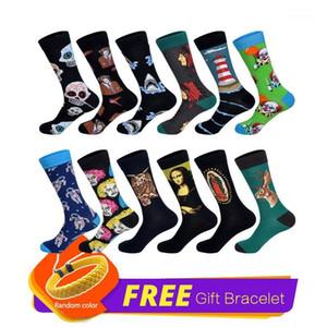 LIONZONE 12Pairs Lot New Men Dress Socks 60 Colors Dozen Pack Happy Socks Funny StreetWear Wedding Gift1