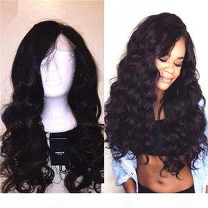 100% brasilianische Menschenhaar-Mode Wellenförmige Glueless volle Spitze-Perücken mit natürlicher Haarlinie für schwarze Frauen Spitze-Front-Perücken