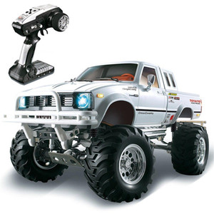 RCtown HG P407 1 10 2.4G 4WD Rally Rc Car for TOYATO Metal 4X4 Pickup Truck Rock Crawler RTR Toy