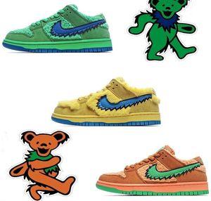 Sß Dùnk Low PRO QS Designer Luxury Five Bears PackYellow Beaes Femme Hommes Boy Girl Sneakers Mens Casual Running Shoes 36-45