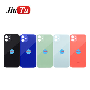 Repair Glasses For iPhone 12 12Mini 11Pro Max Big Hole Back Glass Cover Battery Cover Rear Door Housing