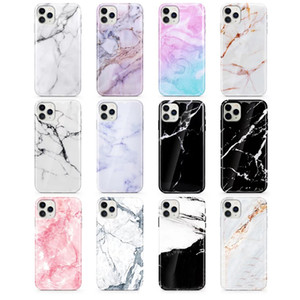 Marble Pattern Designer Cell Phone Protective Cases Anti Falling Phone Back Cover Case TPU Soft Phone Shell for iPhone11 12 mini Pro Max