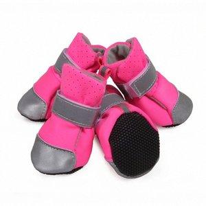 Hundeschuhe Kleiner Hund Pet Sandalen Schuhe Gehen weiche Schuhe Blau Haustier-Produkte Reflektierende magische Aufkleber für Sommer weiche Unterseite HOT T5O4 #