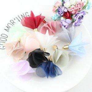 10pcs Mini-Fleurs Mini Fleurs Tassels Fringe Rouge Noir Blanc Gris Accessoires de bricolage Boucles d'oreilles Colliers Colliers Conclusions de bijoux Pendants H Wmtemn