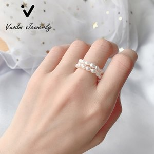 Mini Small Rings Natural Freshwater Pearl Rings 2-3mm Pearl Ring for Women Fashion Jewelry Gift wholesale