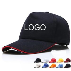 Custom Cotton 5 Panels Plain Baseball Cap Embroidery Printing Logo All Color Available Adjustable Strapback Hat Adult Blank Solid Sun Visor