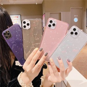 Anti-knock Shining Glitter Powder Phone Case For iPhone 11Pro Max X XR XS 8 7 6 6S Plus Transparent Soft TPU Back Cover wholesale