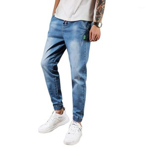 Peikong-Katze Whisker Beunruhigte bestickte MID-Ritter-Regulierungs-Fit-Versammlung mit Kordelzug-Männer-Biker Skinny Ripping Jeans für Männer