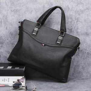 Handbag Leather Genuine Shoulder Affairs Office Briefcase Messenger Bag Designer Men Business Single Satchel Male Bhtjm
